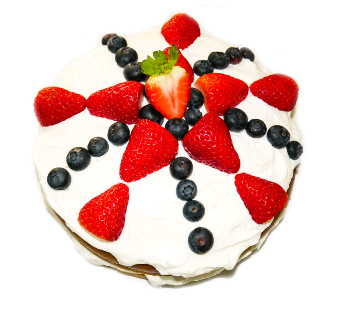 Vanille mit Früchten